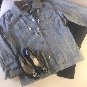 Chico's Button Down long sleeve top
